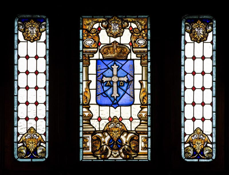 Sala Constitución (detalle de las vidrieras)