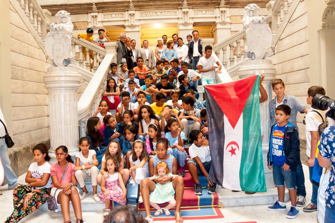Visita niños saharauis
